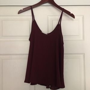 Nordstrom's LUSH Maroon Top